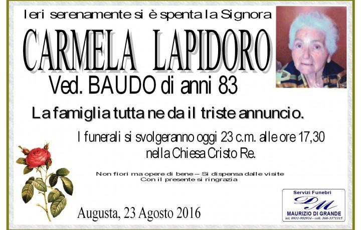 CARMELA LAPIDORO