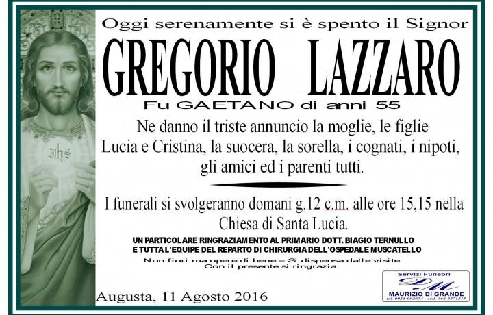 GREGORIO  LAZZARO