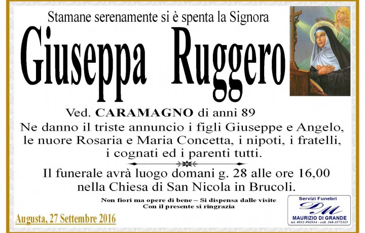 GIUSEPPA  RUGGERO CARAMAGNO
