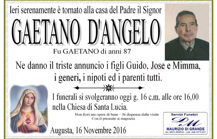 GAETANO  D'ANGELO
