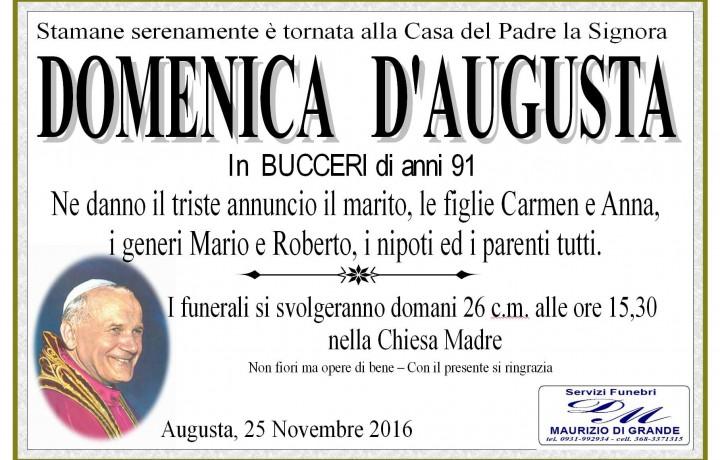 D'OMENICA  D'AUGUSTA  BUCCERI