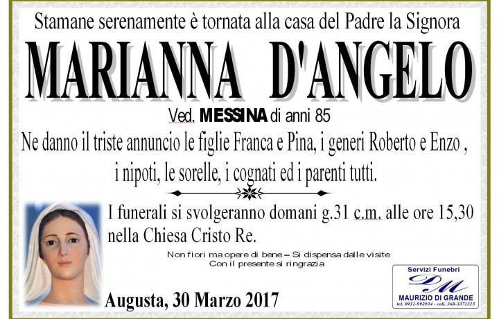 MARIANNA D'ANGELO Ved. MESSINA
