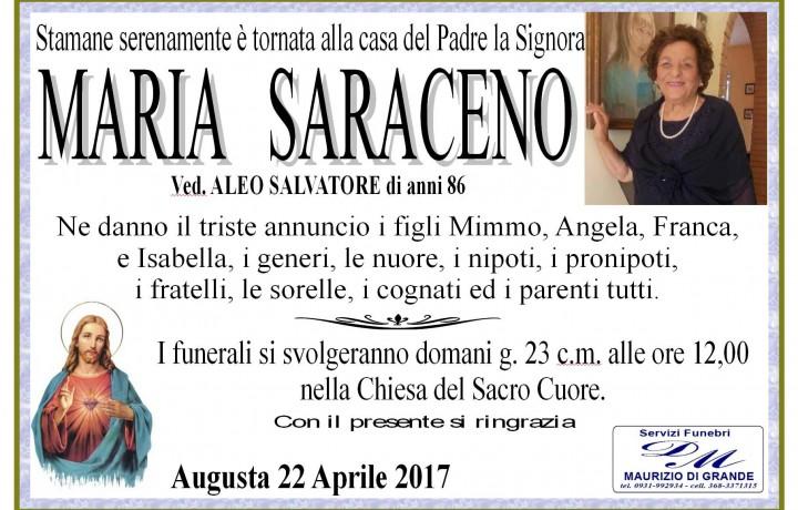 MARIA  SARACENO(Ved.ALEO)