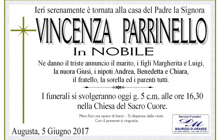 VINCENZA  PARRINELLO in NOBILE