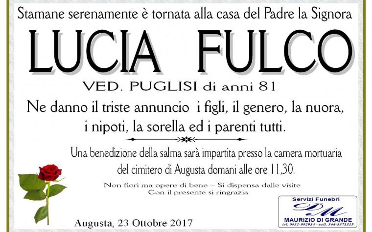 LUCIA  FULCO Ved. PUGLISI