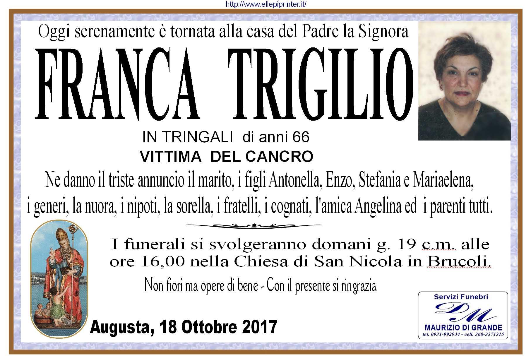 trigilio franca manifesto