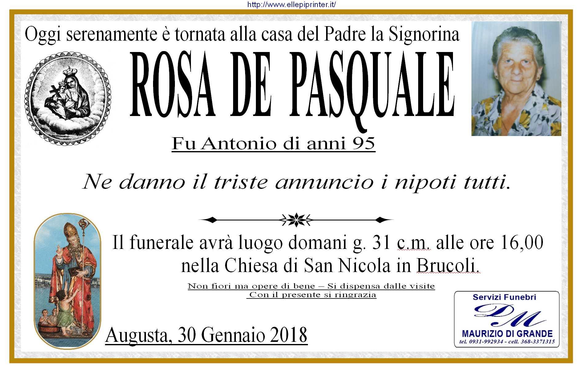 De Pasquale Rosa man