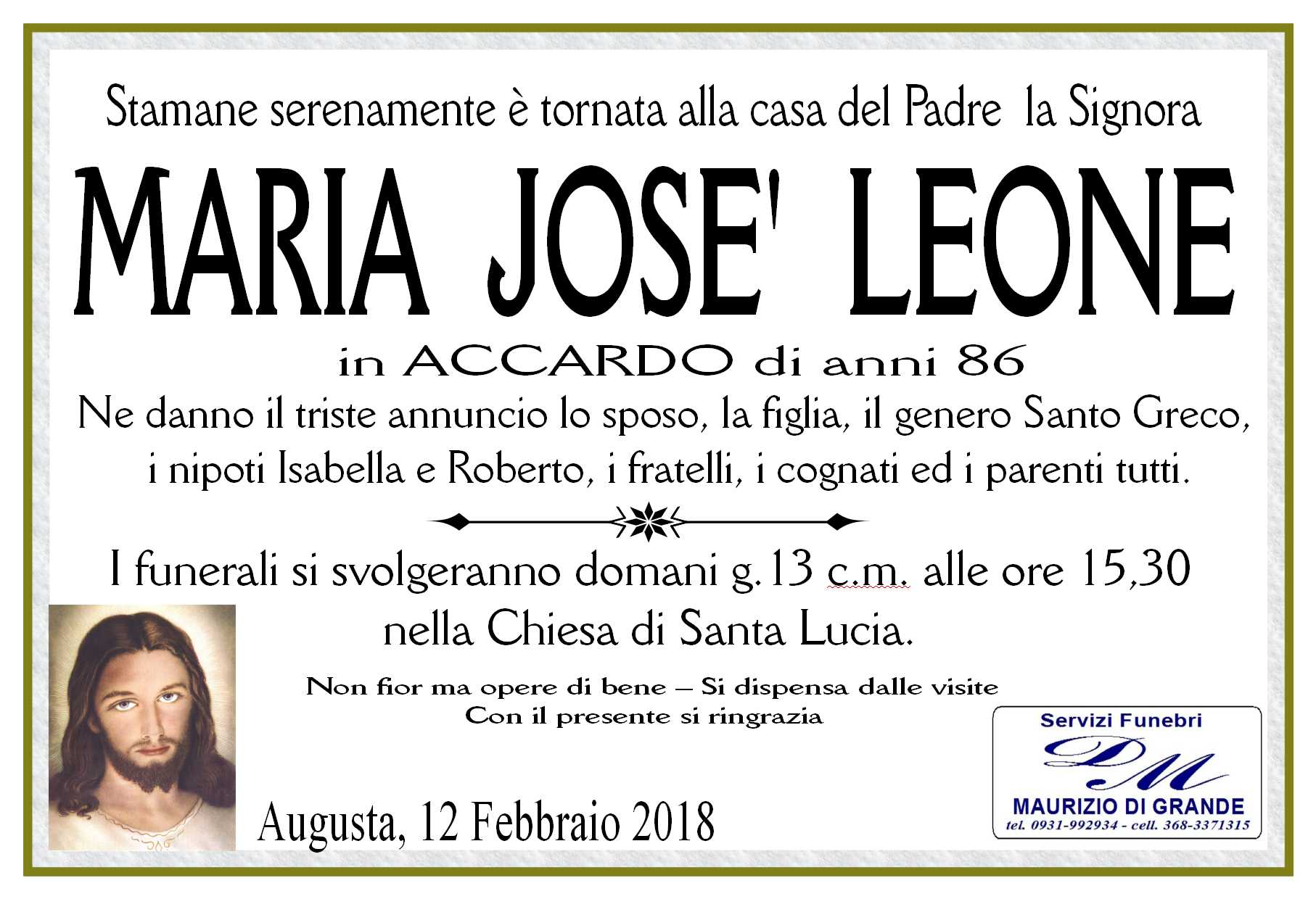 LEONE MARIA JOSE'