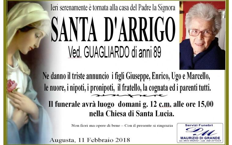 SANTA  D'ARRIGO(Ved. GUAGLIARDO)