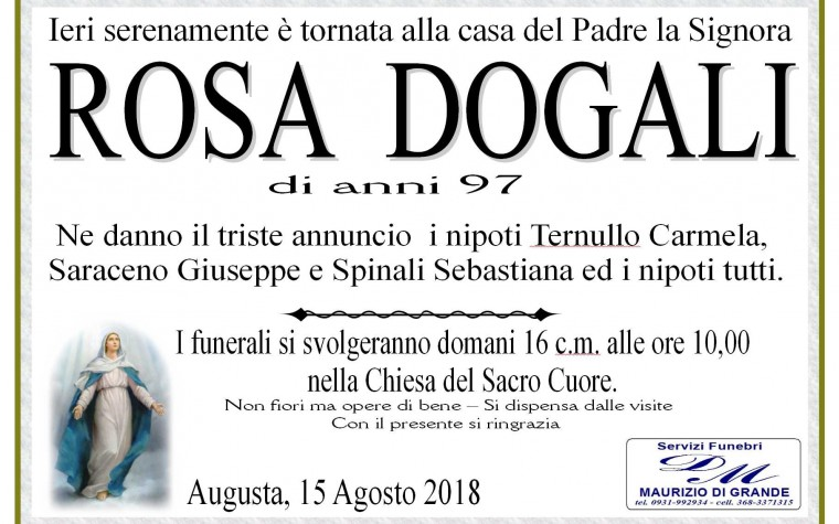 ROSA  DOGALI